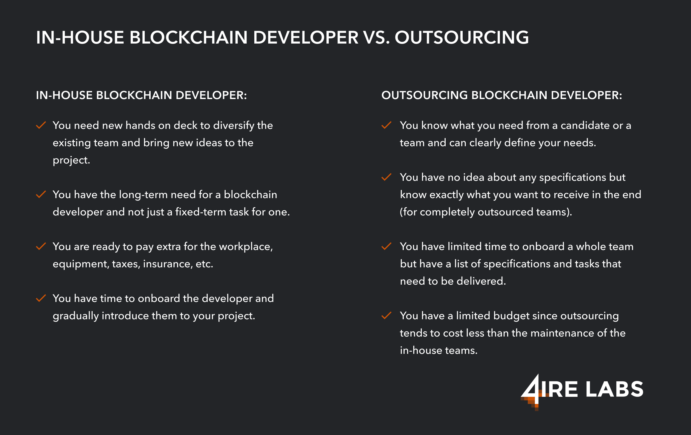 in-house vs outsourcing