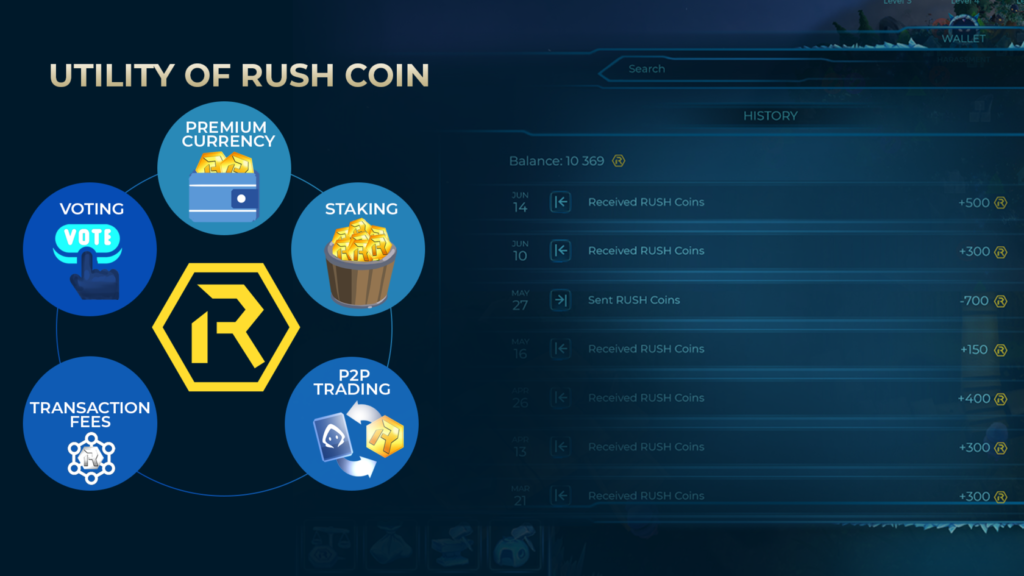 utility of rush coin