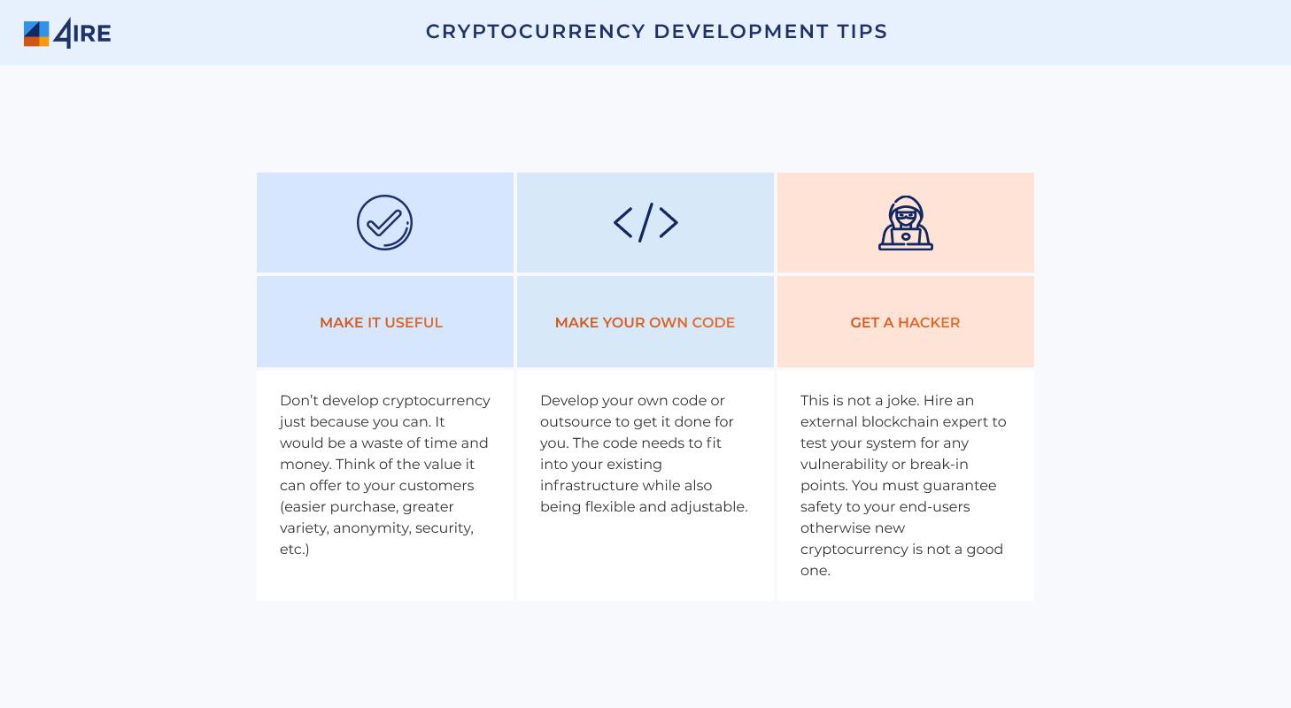 Cryptocurrency Development Tips